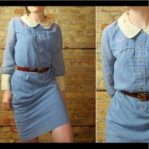 Powder Blue Collared VTG Dress
